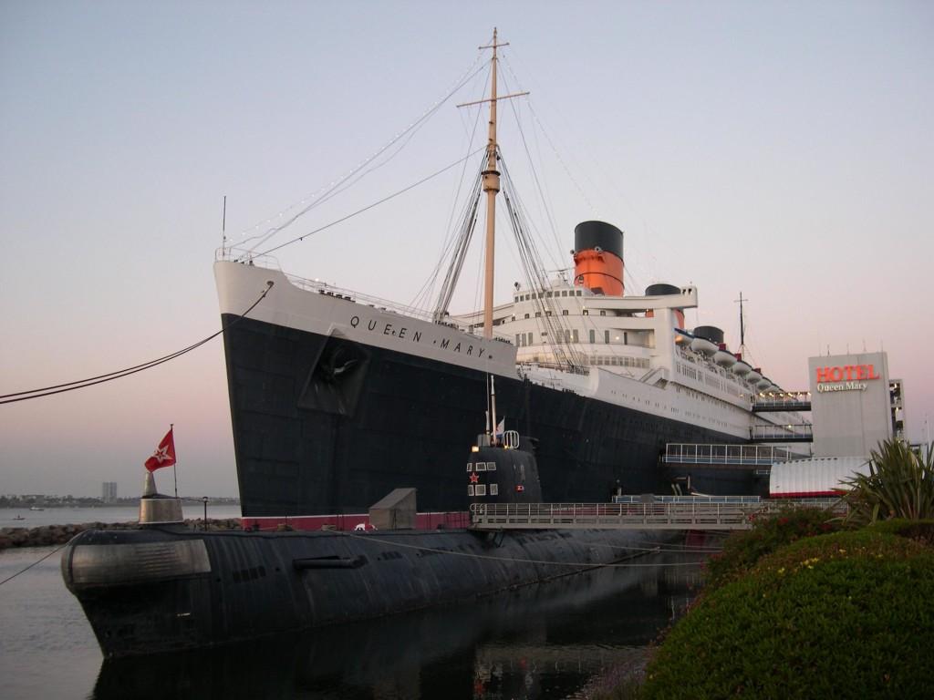 Le paquebot le Queen Mary aux États-Unis